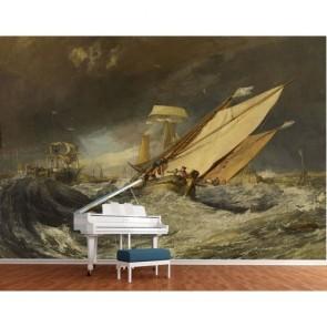 Fischerboote Bildtapete - Geklebte
