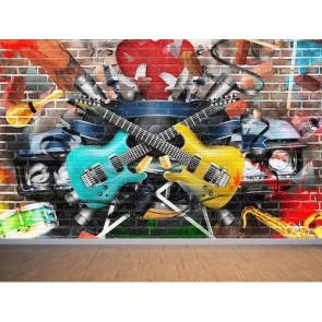 Music und Graffiti Tapete - Geklebte