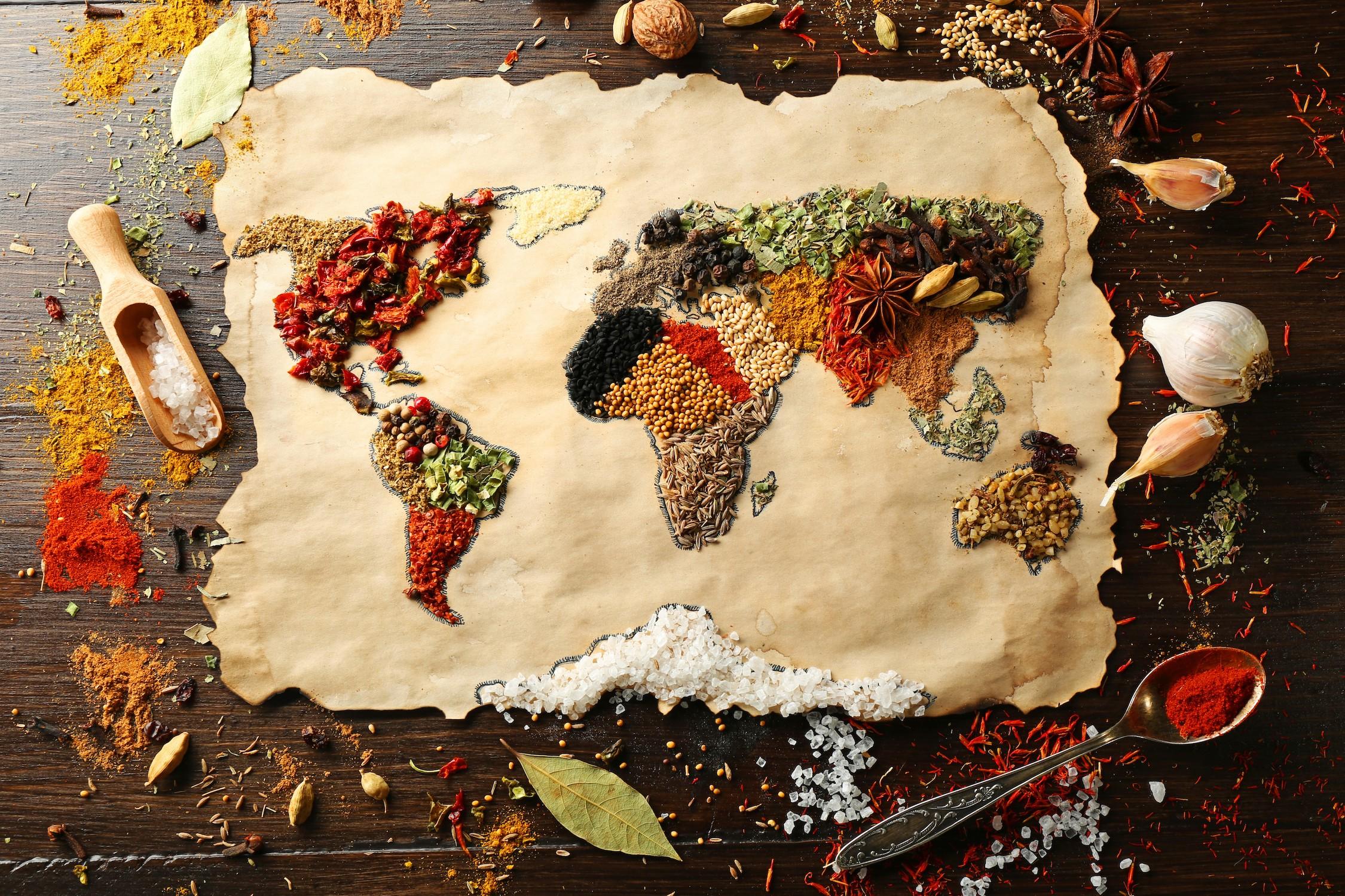 Chef'S Weltkarte  Poster Bilder